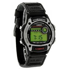 Casio 50 Meter Digital Strap Watch, Chronograph, Alarm, Nylon Strap, W94HF-8AV