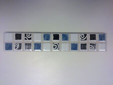 BORDER TILES PACK OF 20 CERAMIC WHITE/BLUE/SILVER