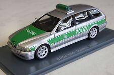 BMW 5er Touring E39 Polizei silber-grün 1:43 Neo neu + OVP