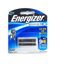 Energizer L92BP2 Single Use Batteries AAA ULTIMATE LITHIUM Battery 2 Pack