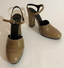 Jil Sander Women Shoes Size 36 NIB Nude Heel Sandals Leather Ankle Strap