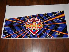 BALLY DR. WHO PINBALL MACHINE 5 PC. CABINET ARTWORK/DECALS!*SUPER RARE!*
