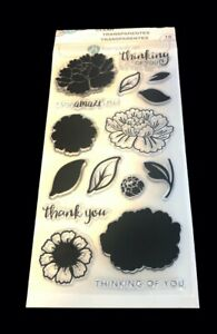 Layering Flower Clear Acrylic Stamp Set Hampton Art SC0747 NEW Amaze no package