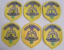 Vintage LOT Patches SIX National Safety Council  Safe Driver Yearly Awards 3-8
