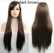 Synthetic Long Straight Hair Lady Full Wigs Anime Fashion Cosplay Heat Resistant