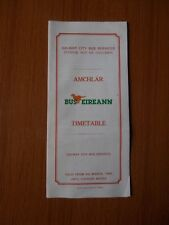 1989 GALWAY CITY BUS SERVICES AMCHLAR BUS EIREANN TIMETABLE VINTAGE OLD LINES