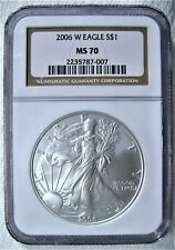 2006-W Burnished Silver Eagle NGC MS-70