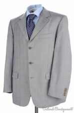 BROOKS BROTHERS Madison Gray Plaid Check 100% Wool Jacket Pants SUIT Mens - 41 R