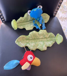 Fisher Price Rainforest Jumperoo Plush Bird & Frog Hanging Toy Replacement Part