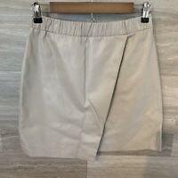 Topshop Vegan Faux Leather Taupe Mini Skirt Size US 6