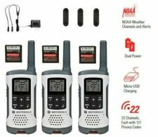 Motorola Talkabout Walkie Talkie 3 Pack 25 Mile Two Way Radios NOAA 22 Ch T260TP