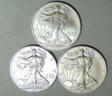 Set of 3 American Silver Eagles 2009 2010 2011 Silver Dollars Uncirculated