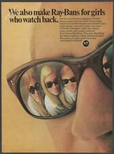 RAY-BAN sunglasses -Also for girls  1968 Vintage Print Ad