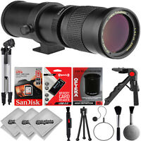 Opteka 420-1600mm f8.3 Tele Zoom Lens for Canon Digital SLR Cameras