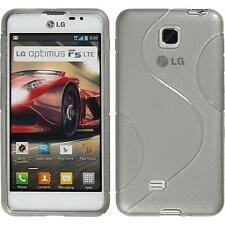 Coque en Silicone LG Optimus F5 - S-Style gris + films de protection