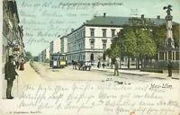 Ansichtskarte Neu-Ulm 1902 Augsburgerstrasse mit Kriegerdenkmal