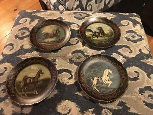 Raymond Waites Vintage Horse Plates,  Set Of 4