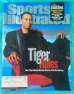 "2000 Tiger Woods Sports Illustrated - Masters Golf  ""Tiger Rules""  04/03/00"