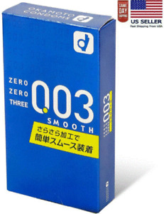 Okamoto 003 Smooth Condom 0.03mm Ultra Thin 10pcs/pack Made in Japen(US Seller)