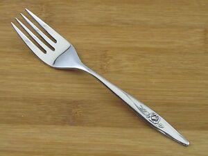 "Oneida Lasting Rose Salad Dessert Fork 6 1/4"" EXC Deluxe Stainless Flatware"