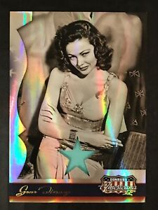 GENE TIERNEY 2008 DONRUSS AMERICANA II MATERIAL WORN RELIC CARD / 400 HOLLYWOOD