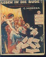 C. Morena : Leben in die Bude ~ grosses Schlagerpotpourri - übergroße alte Noten
