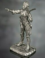 Toy Soldiers Pirate Woman with Sabre Figures 1/32 Tin Female Miniature Girl 54mm