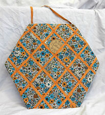 Large Hexagonal Fabric Covered Wall Hanging Memo / Message / Display Board  BNWT