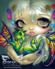"""""""Darling Dragonling Green"""" by Jasmine Becket-Griffith Fine Art Print 5"""" x 7"""""""