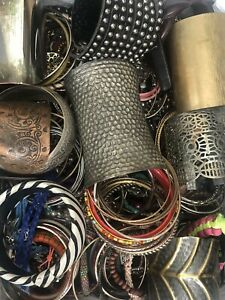 Huge Bracelet Lot - 12 Lbs - Resell Repurpose Wear Crafts - Bracelets Only