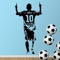Autocollant sticker mural vinyle Lionel Messi Football décoration chambre enfant
