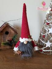 Swedish Tomte Nisser Scandinavian Gnome Plush Christmas  Present HandMade in UK