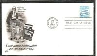 US SC # 2005 Consumer Education FDC. Artcraft Cachet.