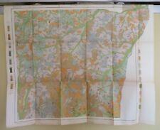 1906 Antique Map Texas Henderson Church Hill Pirtle Flanagan 31X26 #4327