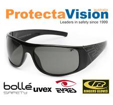 Eyres XCCESS Shiny Black Smoke Safety Glasses Sunglasses
