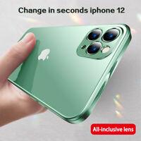 Square Case For iPhone 12 Pro 11 Pro Max XS 8 Plus Square Plating Silicone Cover