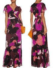 Diane von Furstenberg 'Melania' printed silk-chiffon maxi dress sz 12 $798