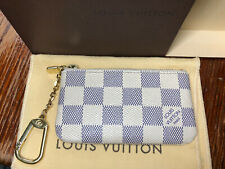 Louis Vuitton Damier Azur Cles Coin Key Pouch Made In FRANCE
