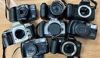 Vintage Digital Camera Job Lot SLR Film Includes Canon Sony Konica Sigma Pentax