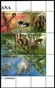 Wild Animals small lot of MNH stamps Guyana