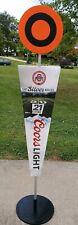 "Coors Light Osu Football Yard Marker Store Display 77"" Tall. Man Cave, Frat"