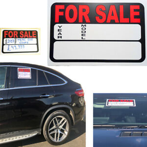 CAR FOR SALE Sign Banner Display Marketing Car Plaque Auto Outdoor Sticker