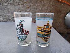 1990 Kentucky Derby & 1999 Preakness/Pimlico Souvenir Drinking Glasses