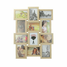 12 Photo Frame 6x4 Multi Picture Display Wooden Collage Frame M&W