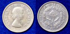 6 PENCE 1953 ELISABETH II SUDAFRICA BB VF #8005