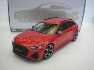Audi RS6 Rs 6 Avant 2019 Red Metallic 1/18 minichamps 155018010 New