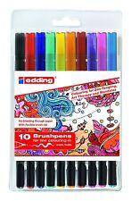 10 Edding Brushpen 1340 Tangle Brushpen Set sortiert Pinselstifte Fasermaler 000