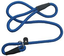 KIEPAWS Deluxe Extra Strong Dog Slip Lead Choke Collar Leash Anti Pull 12mm Blue