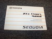 2004 Toyota Sequoia Owner Owner's Operator User Guide Manual SR5 Limited 4.7L