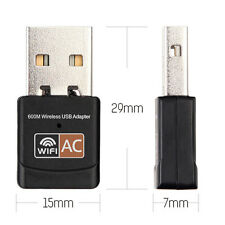 600Mbps USB Dual Band 2.4G / 5G Hz Wireless Lan PC WiFi Adapter 802.11AC AB